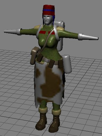 Sirren's work in progress 3d model