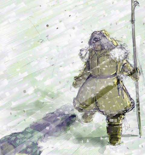 Lone explorer