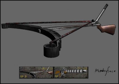 Leaf spring crossbow