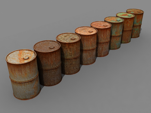 Collection of barrels